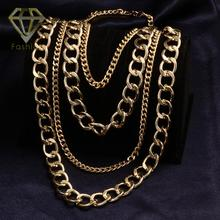 Rock Style Tassel Chain Necklaces Punk Gold Color Luxury Long Statement Sweater Jewelry for Women Party