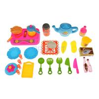 Children Mini Kitchen Cookware Play Set Kids Toddler Role Pretend Play Toys
