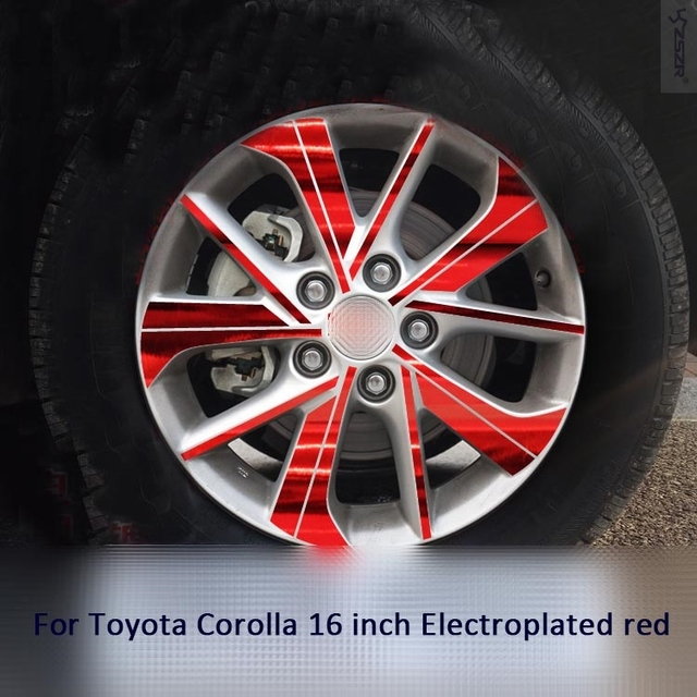 Modified Rims Wheels Brightly Plated Sticker For Toyota Corolla 16