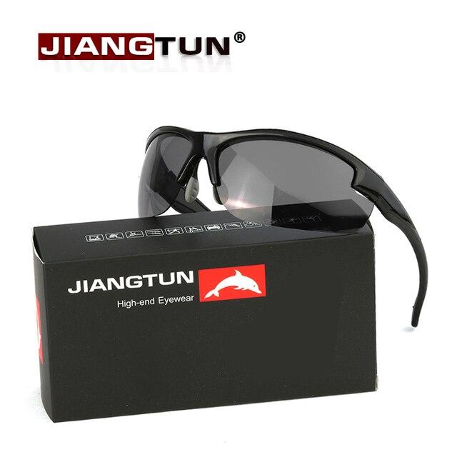 JIANGTUN TR90 gafas de Sol Polarizadas De Los Hombres Gafas Gafas de Sol Gafas de Color Negro Gafas de Sol Masculino