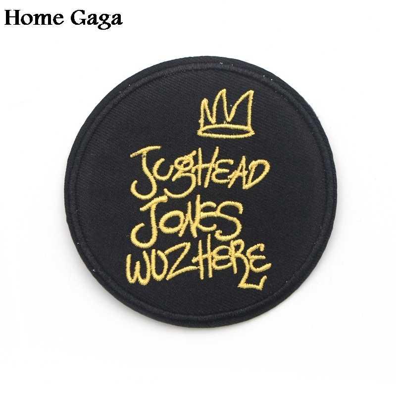 Homegaga аппликация нашивки ривердейл круглые буквы наклейки pour сумка Джерси одежда para куртка одежда Утюг на шьем значке D0191