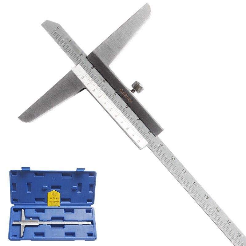 Depth Vernier font b Caliper b font 8 0 200mm 0 02 Metric Gauge Micrometer Carbon