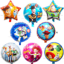 (5pcs/lot)lightyear party balloons 18inch round&star style woodyr helium children toys for birthday