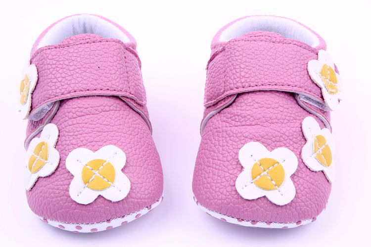 Classic Children Baby Kids Boy Girl PU Flower Car Floor Shoes Autumn Fashion Non-Slip Soft Toddlers First Walkers