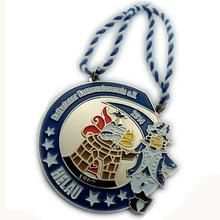 Customized Irregular Shape Circus Theme Double Hole Medal cheap custom metal medals