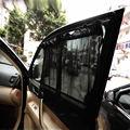 2 unids/set nueva negro tela de malla de coches Auto DSB83 cortina de ventana parasol Set protección UV Side Window Curtain tamaño cerca de 40 * 70 cm