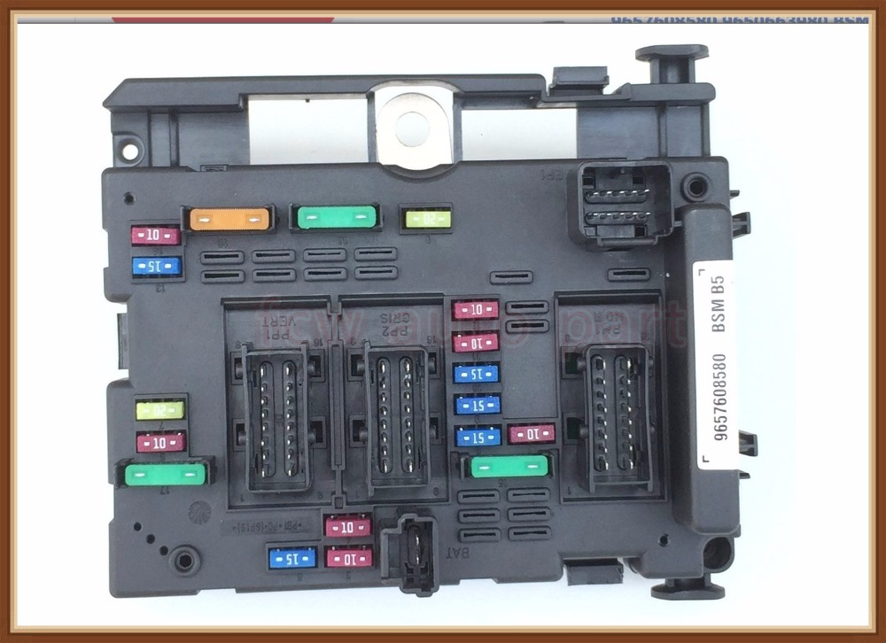 Peugeot 206 Fuse Box Relay Wiring Diagram