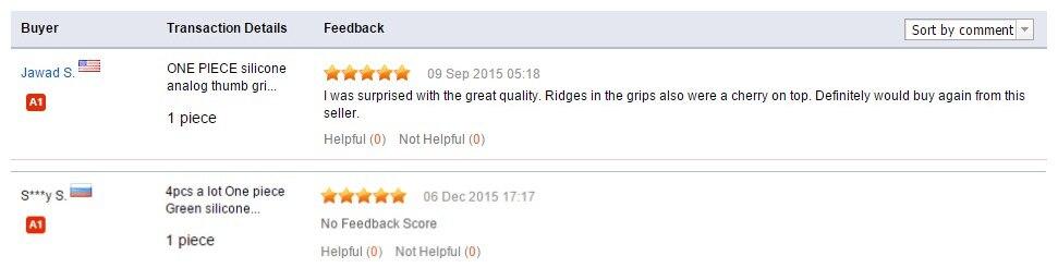 silicone grip feedback