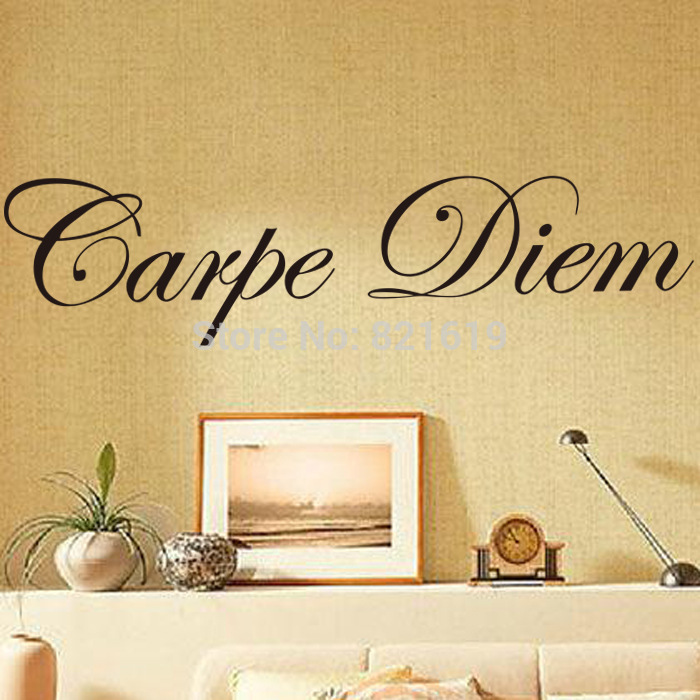 carpe diem Wall Sticker DIY Removable Latin Quote Sayings Wall Decal ...