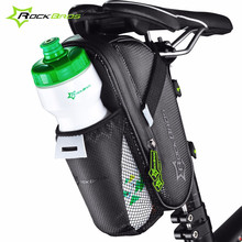 Rockbros Road Mountain Bike Bag Saddle Bag Rear Bicycle Waterproof MTB Cycling Tail Bag Water Bottle Pocket Pannier Sacoche Velo