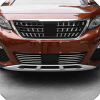 Fit For Peugeot 3008 GT 2016 2017 2018 2019 Car Styling Stainless Steel Front Bottom Grille Grill Cover Protector Trim 10pcs/set