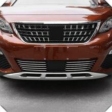 Parachoques exterior de acero cromado para coche, molduras para lámparas de niebla, para Peugeot 3008/GT 5008/GT 2018 2019 2020, 10 Uds.