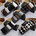 2015 Новый Бамбуковые Волокна Классический Деловой Бренд Мужские Носки Высокого Качества Мужские Носки Хлопок 100% Спортивные Носки 5 Pairs = 1 Лот Box