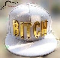 Spiegel Acryl BITCH letters fashion mannen vrouwen sport baseball caps bezaaid snapback hoeden