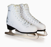 2018 Winter Adult Professional Thermal Warm Thicken Ice Skates Shoes With Ice Blade PVC Waterproof White