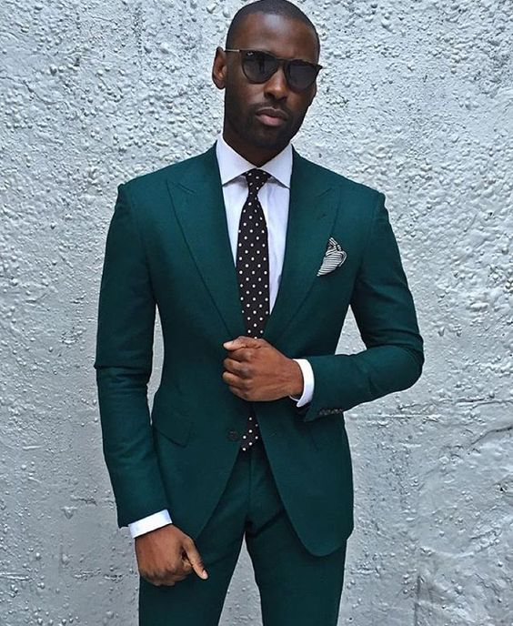Dark Green Slim Fit Suit | My Dress Tip