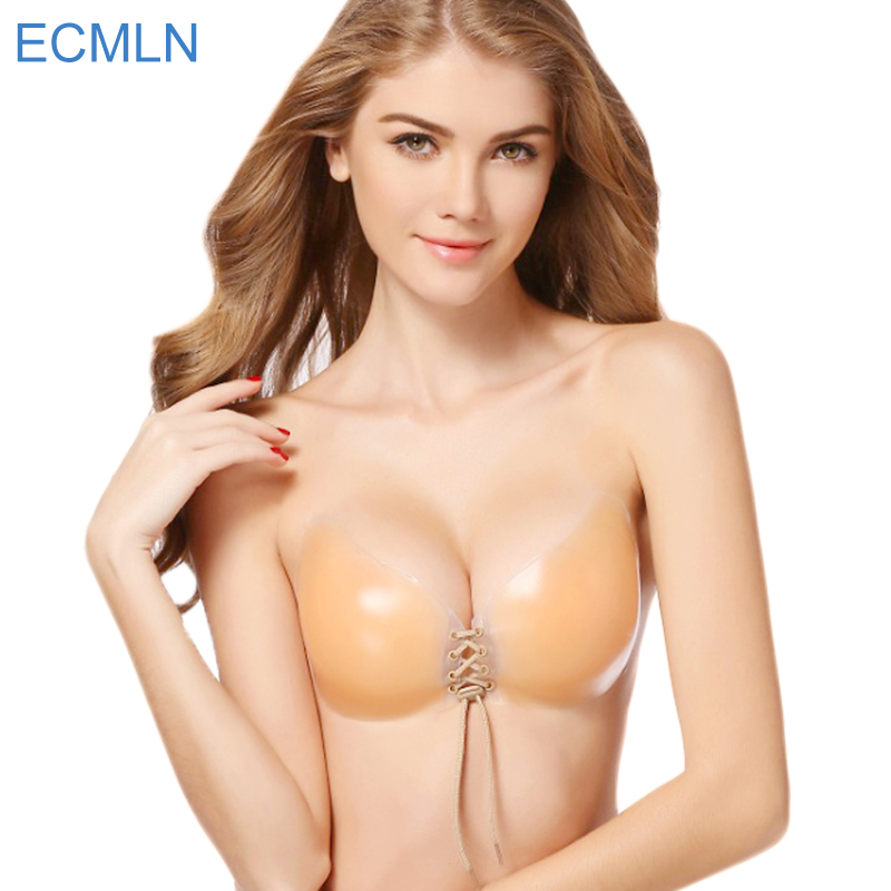 Sexy Super Push Up Bra Silicone Bralette Big Cup Backless Strapless Bras Invisible Bras Womens 2017 Wedding Bikini