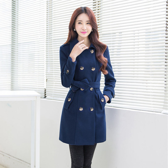 Aliexpress.com : Buy 4XL Plus Size Women Wool Coats 2016 Autumn ...