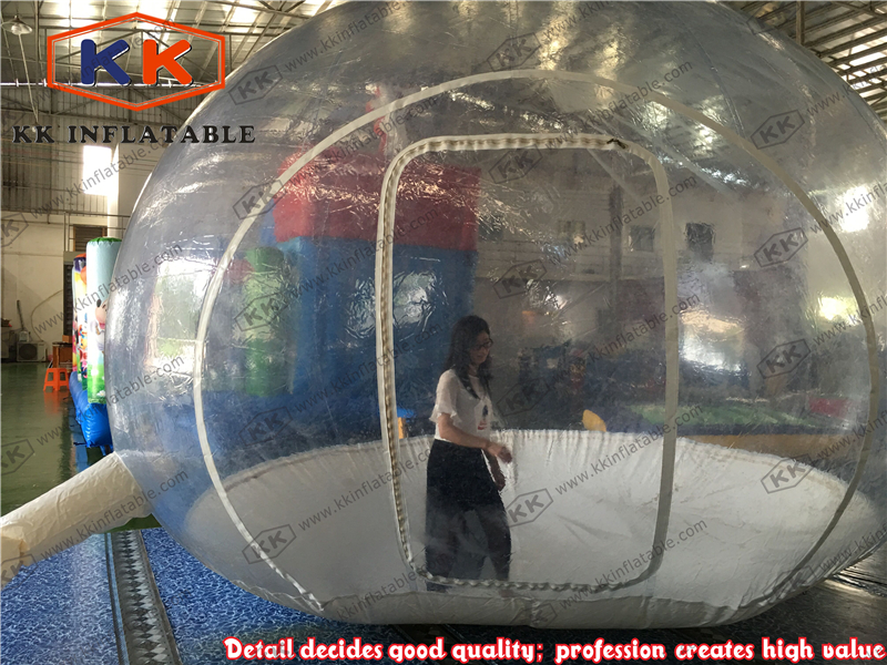 Transparent inflatable bubble camping tent for beach use  big inflatable lawn tent transparent pvc inflatable bubble tent for hotel use