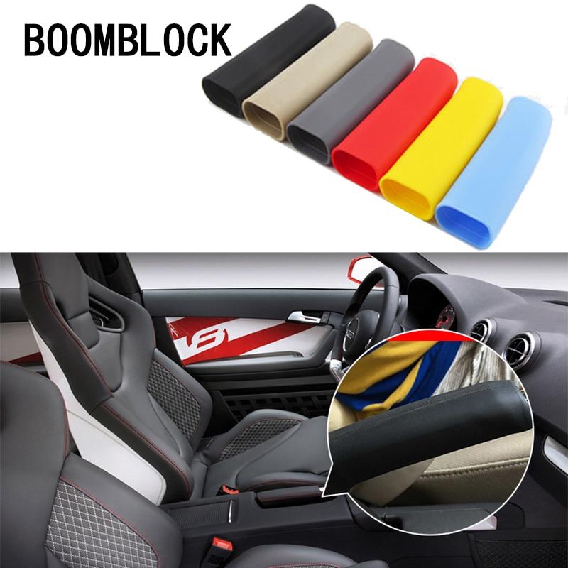 BOOMBLOCK Car Handbrake Non-slip Covers Rubber For Inifiniti Kia Rio 3 K2 K3 Sportage Ceed Ford Fiesta Mondeo Suzuki Accessories