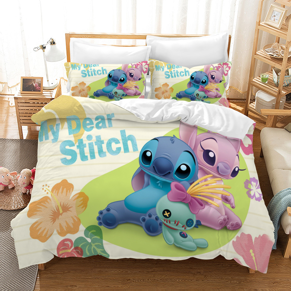 Lilo & Stitch Stitch 3d Bedding Set Duvet Covers Pillowcases Children Room Decor Comforter Bedding Sets Bedclothes Bed Linen