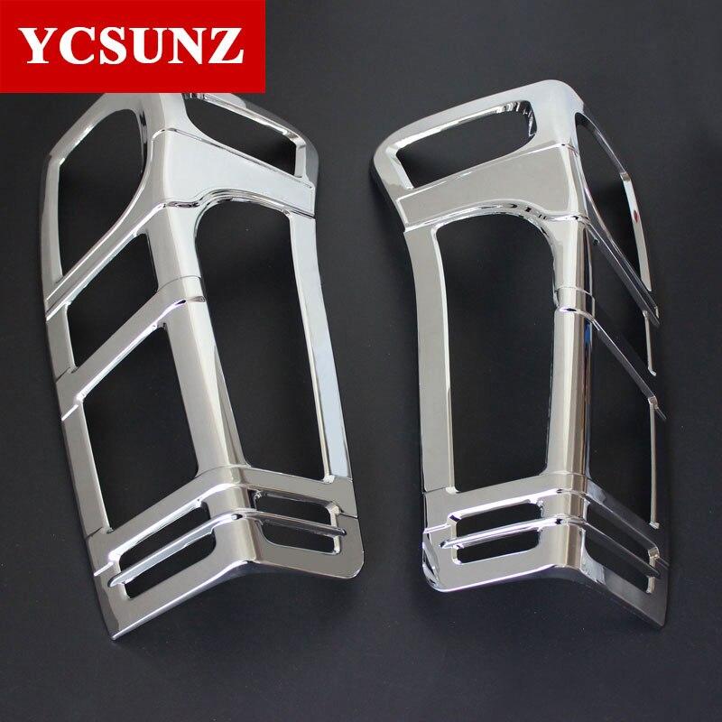 2012 2017 Car Chrome Strip For Isuzu d max Accessories Rear Lamp Cover Trim For Isuzu d max Car Styling Ycsunz