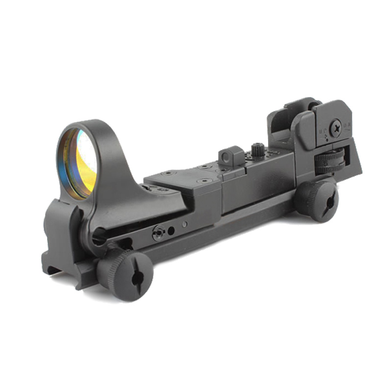 Tactical C MORE Red Dot Reflex Sight with AR Rear Iron Sight Integral Picatinny Mount Marked