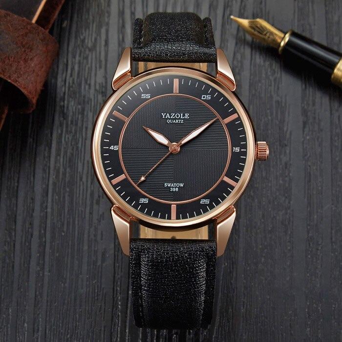 YYAZOLE D'affaires Nouvelle Montre-bracelet Hommes Montres Top Marque De Luxe Célèbre Mâle Horloge À Quartz Montre-Bracelet Pour Hommes Heures Relogio Masculino