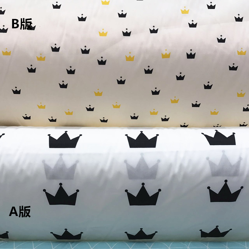 Panel 50 x 145 Twisted Textile Printed Fabric Quilting cotton Crown /& Anchor