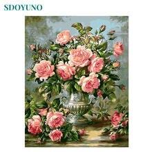 Набор для рисования по номерам на холсте Цветы 60x75 см