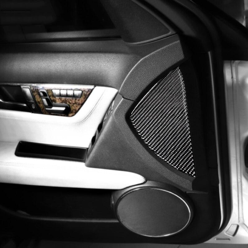 For Mercedes W204 C Class Car Interior Trim Mouldings Door Groove Mat  Carbon Fiber Car Emeblem Sticker Decal