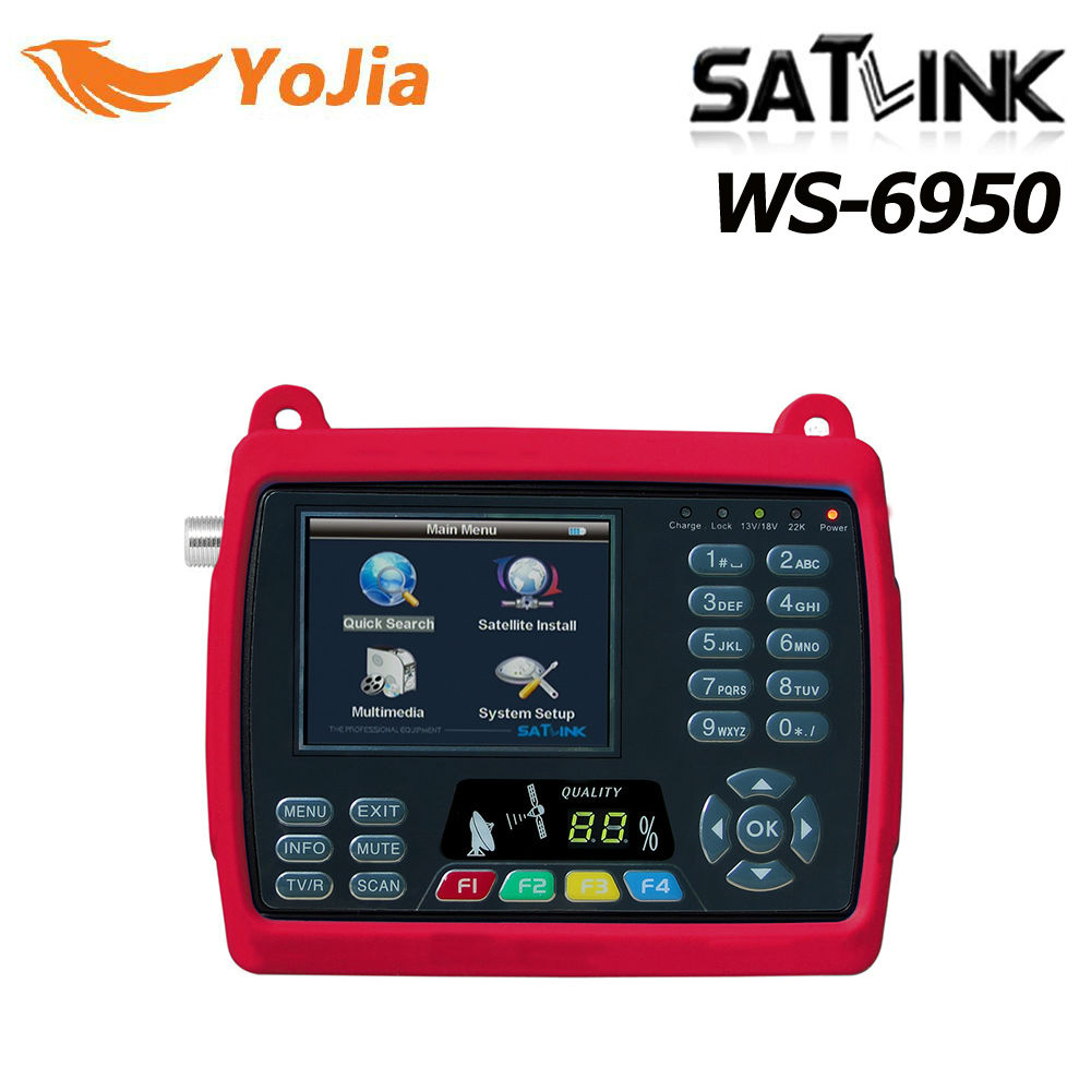 Yojia Satlink WS-6950 Digital Satellite Signal Finder Meter Satlink 6950 WS-69503.5 inch free shipping original satlink ws 6925 signal meter finder dvb t hd mpe4 h 264 finder meter terrestrial signal finder