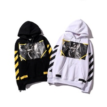 Real Hight Quality Off White Hoodie Brand With the Off white Tags Religious Angel Jesus Fleece Hoodie Sweatshirts Cotton Hoodies