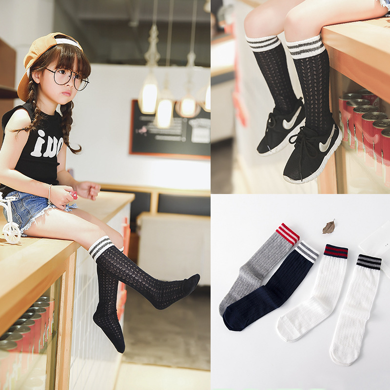 90f08d20d New Fashion Summer socks streak casual tennis socks 4 coloured girls are  cool Nets Sheer For Kids Girls Cool Girl Stockin-in Tights   Stockings from  Mother ...