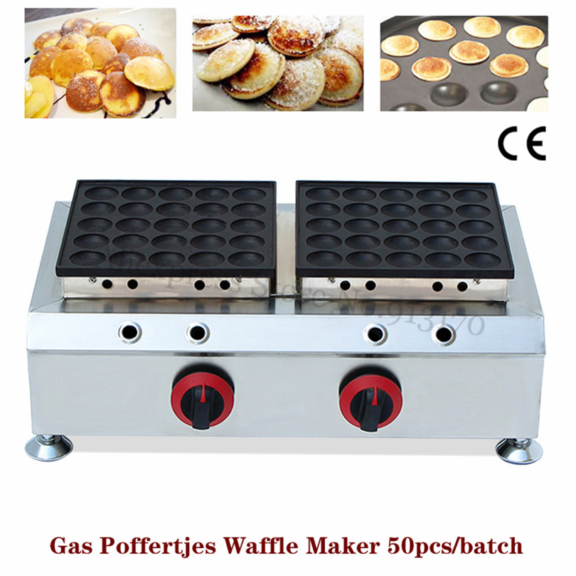 Commercial Gas Poffertjes Grill Stainless Steel Dutch Mini Pancakes Baker Waffle Maker Nonstick Cooking Surface fast food leisure fast food equipment stainless steel gas fryer 3l spanish churro maker machine