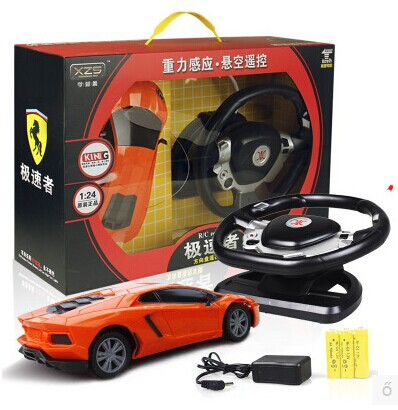 Child electric toy car remote control toy car little boy steering wheel induction charge remote control car
