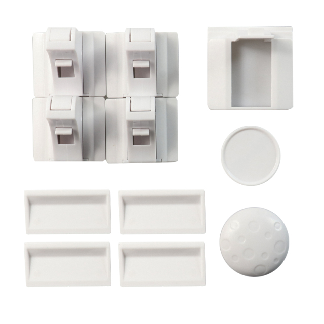 Safety Magnetic Cabinet Locks – No Drilling Required (4 locks + 1key)