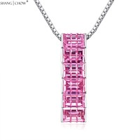 2017 Beautiful Women Jewelry Gift 6 Pcs Pink Kunzite Stone 925 Sterling Silver Necklace For Evening