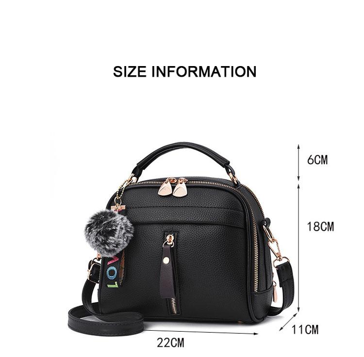 Fashion Women Handbag PU Leather Women Messenger Bags With Ball Toy Female Shoulder Bags Ladies Party Handbags 2019 3