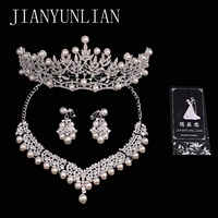Crystal Bridal Jewelry Sets Necklaces Earrings Tiaras Sets African Beads Jewelry Sets Wedding Engagement Jewelry