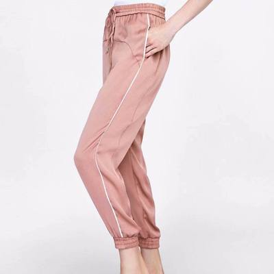 AA New Fashion Women Satin Pants Slack Track Pants harem jogging trousers Stripe Sweatpants Cuffed Track Pants pantalettes
