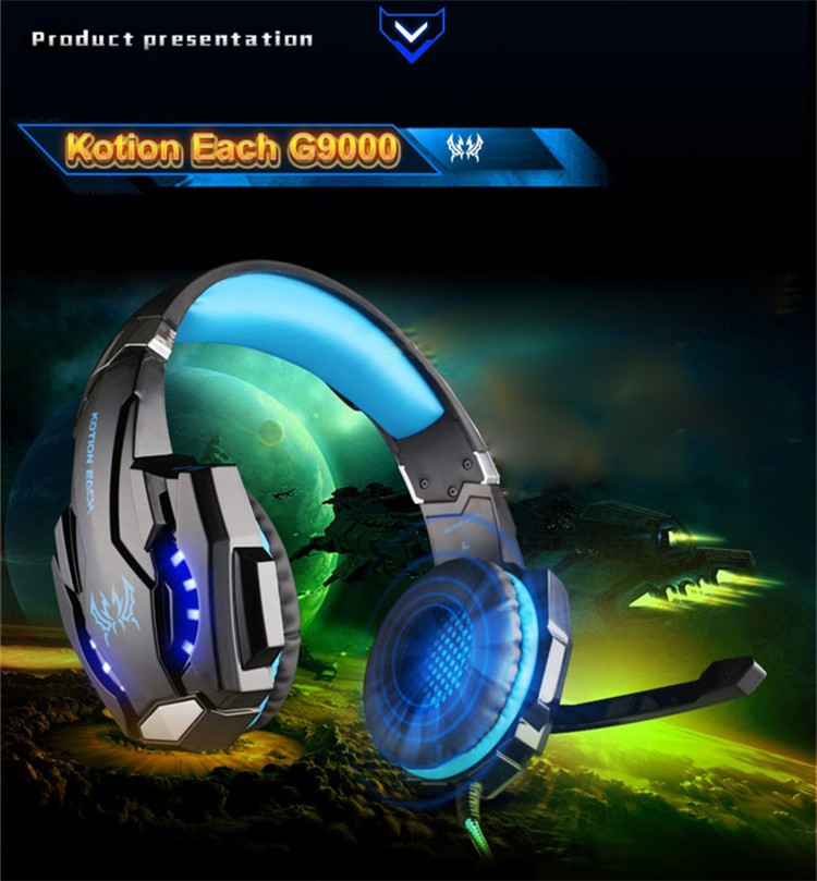 G9000 USB 7.1 Surround Sound Version Game Gaming Headphone Computer Headset Earphone Headband with Microphone LED Light (22)