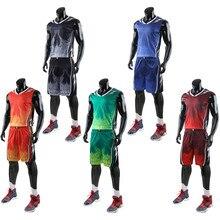 da2ecef1776 High Quality Men Basketball Jerseys Sets Uniforms Boys Sport Kit Clothing  Shirts Shorts Suits Side Pockets Customized