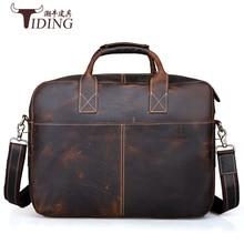 men's cow leather handbags brand oversize man shoulder bags genuine leather brown briefcase business travel handbag laptop bags  все цены