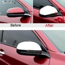 Tonlinker 2 PCS DIY Car Styling NEW ABS Chrome The Reverse Outside Mirrors Light Box Case Stickers for HONDA VEZEL HRV 2014-15