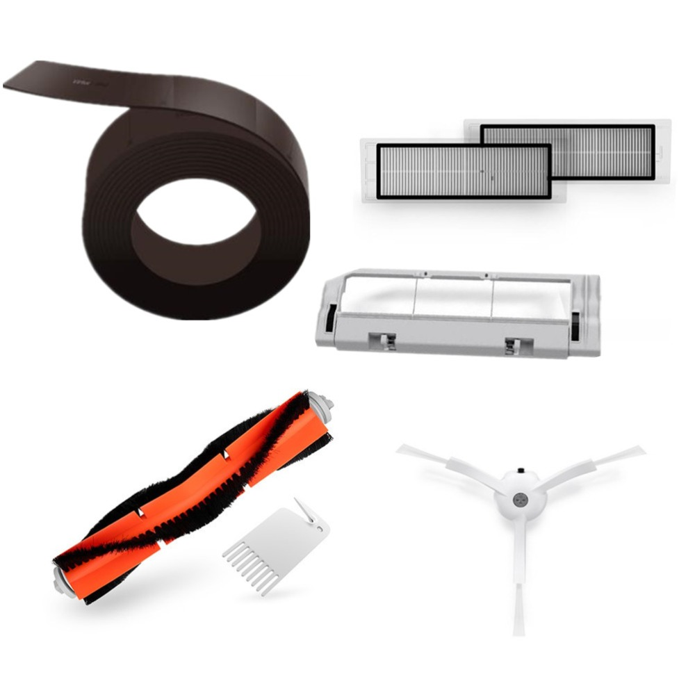 Original Spare Set Of Xiaomi Mi Robot Vacuum Smart Cleaner Accessories Invisible Wall Side Brushes Filter Rolling Bush For Robot