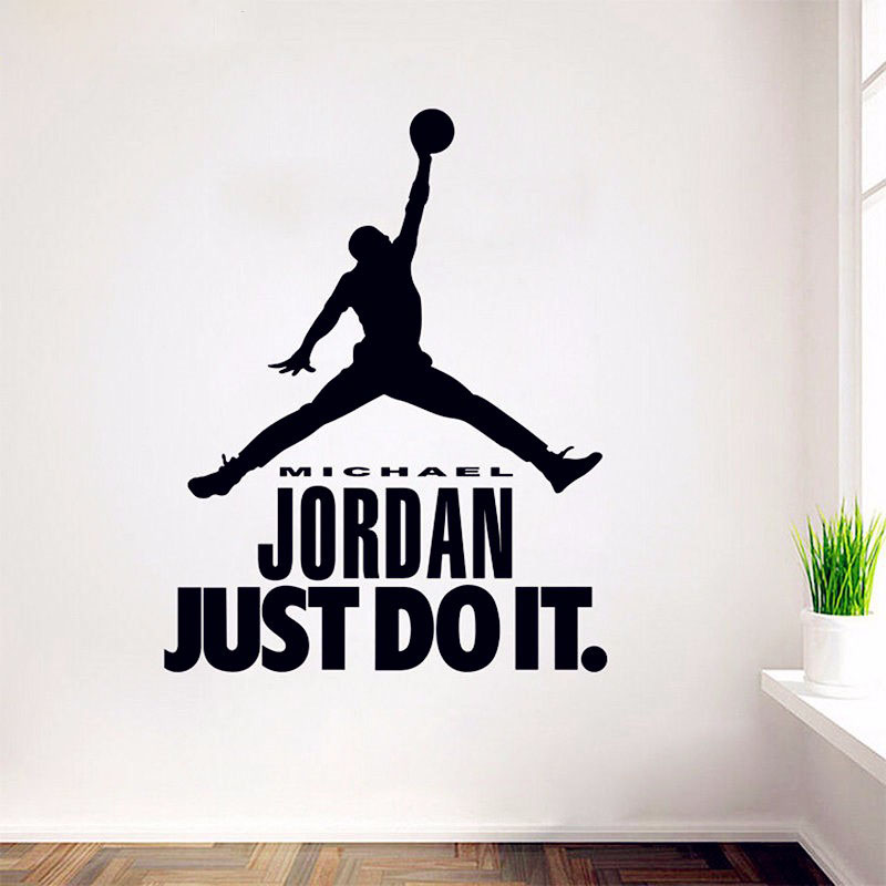 Delicieux Michael Jordan Wall Decal Vinyl Sticker Home Decor Boys Basketball Idol Wall  Murals Boys Rooms Wall Sticker In Wall Stickers From Home U0026 Garden On ...