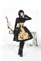 Sweet Punk Rave Sexy Lolita Tube Skirts Gothic Princess And The Pea Cute Black Yellow Print