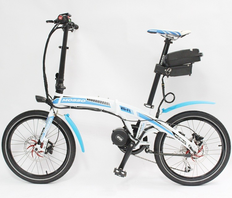 Free shipping mini electric bike mosso 20 f1 48v 350w blue for Little motors for bicycles