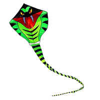 New High Quality Outdoor Fun Sports 15 M Green Long Snake Kites Power Cobra Kite With